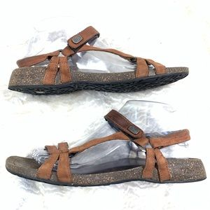 Teva Ventura Cork leather sandal size 8.5